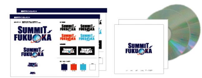 ロゴマーク基本デザインエレメント2冊、CDデータ2枚